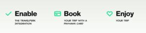 3 steps to TravelPerk application